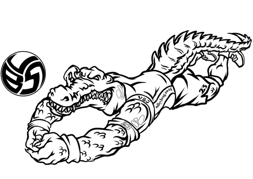 Volleybragswag Alligator Coloring Pages