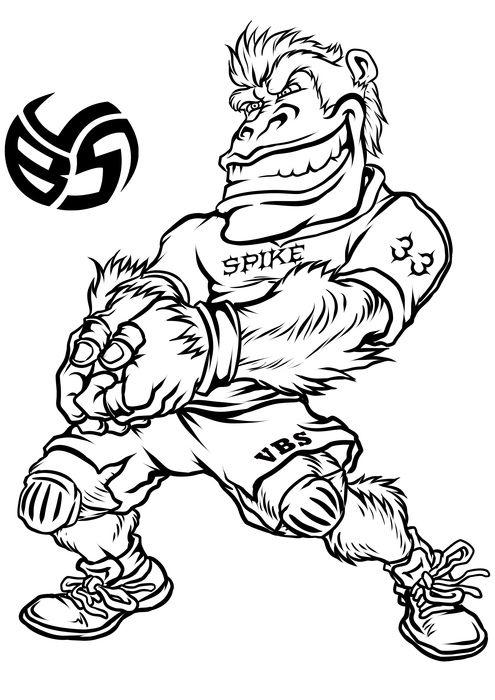 Volleybragswag Gorilla Coloring Pages