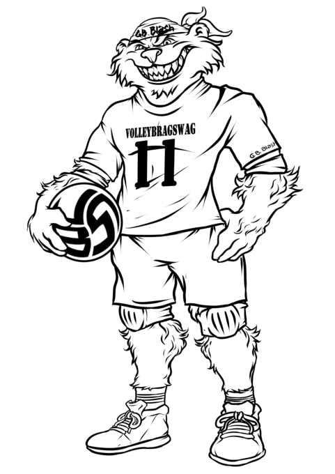 Volleybragswag Bear Coloring Pages