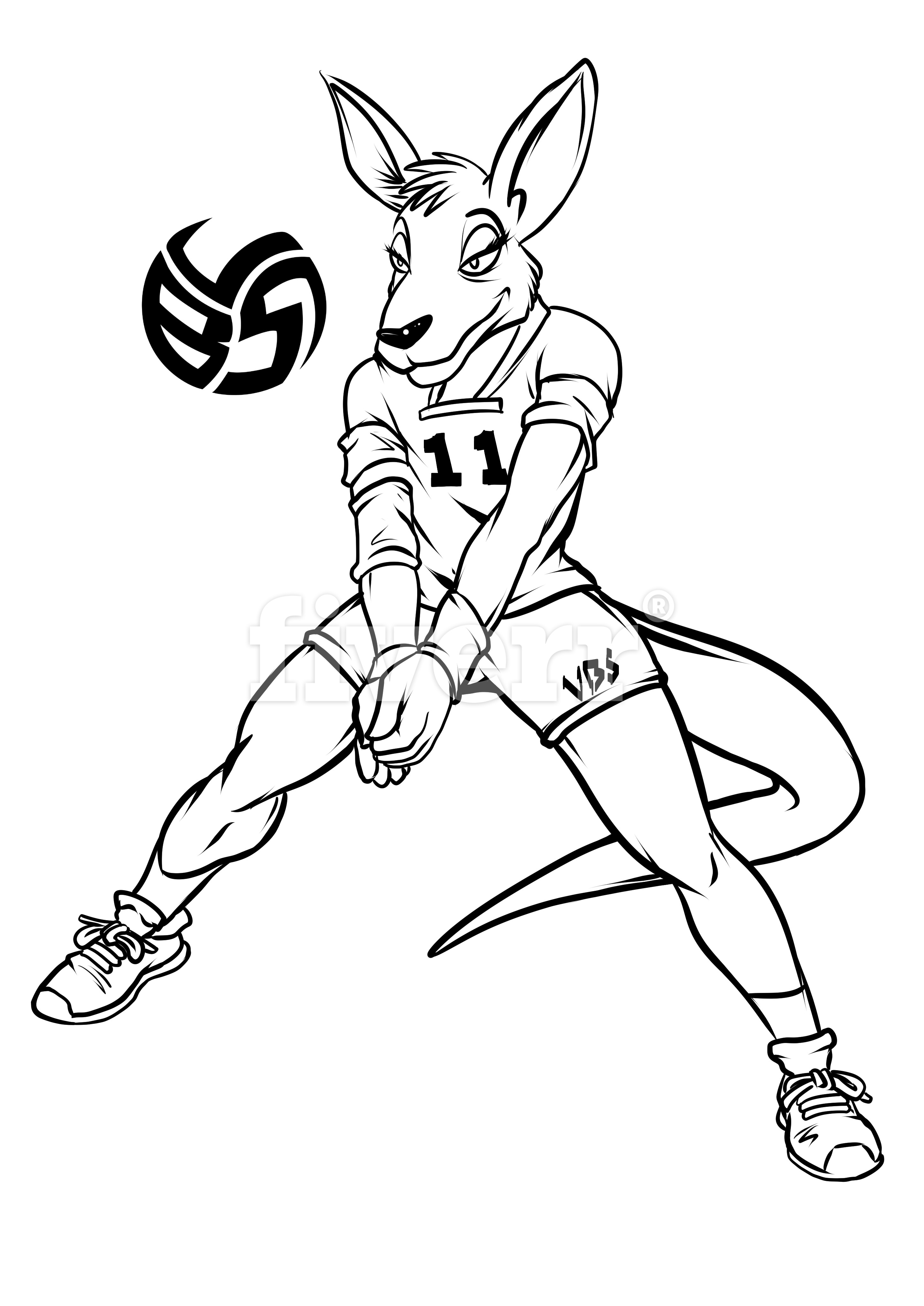 Volleybragswag Kangaroo Coloring Pages