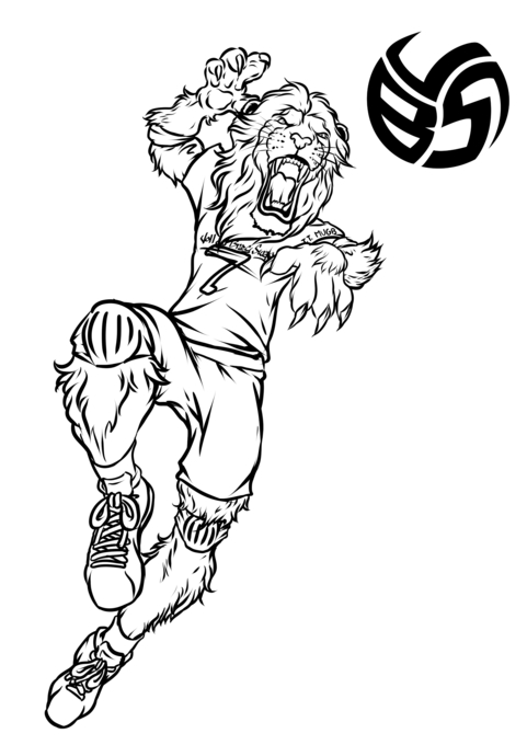 Volleybragswag Coloring Book For Kids With Lion Coloring Pages