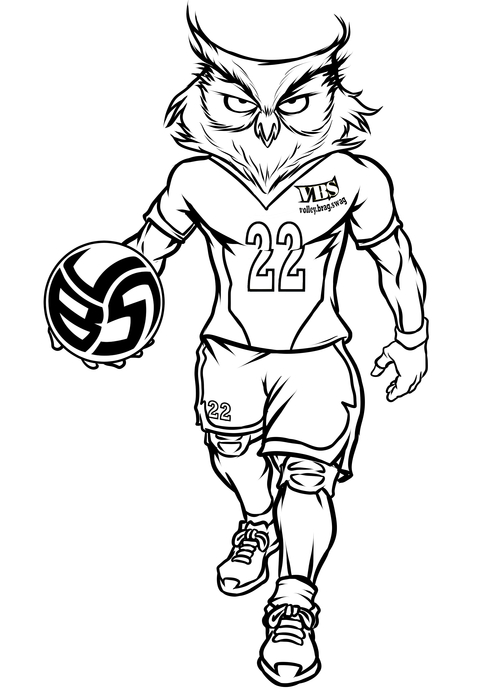 Volleybragswag Owl Coloring Pages