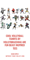 Cool Volleyball TShirts by Volleybragswag are Fun Beast Inspired Tees by April Chapple