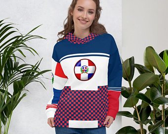 Now available are the Volleybragswag flag of Dominican Republic inspired sports bras, volleyball shorts set, beach towels and blankets, flip flops, hoodies, fanny packs, duffle bags and more!