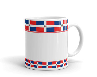 With the vibrant red and blue shades of the national flag of Dominican Republic we took the same essence and integrated them into beautiful patterns on our volleyball mugs.