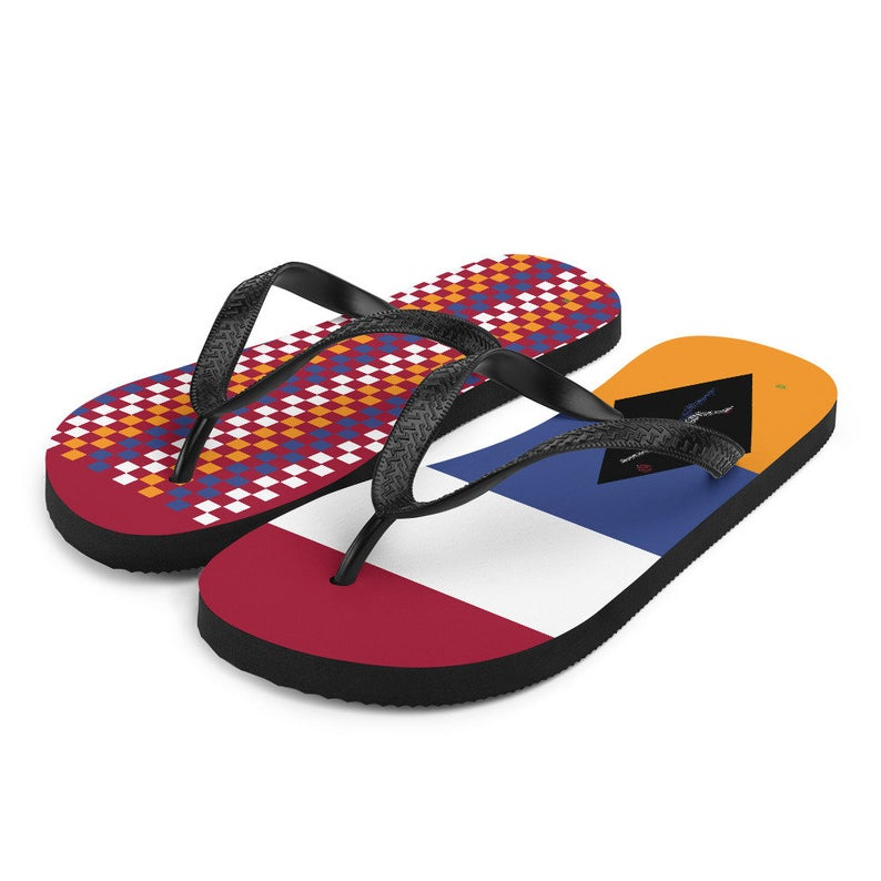 Volleybragswag Dutch/Netherlands inspired volleyball flip flops available for volleyball players