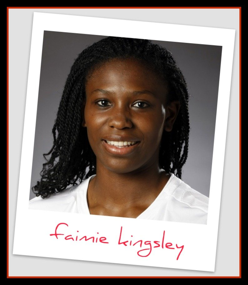 Sun Belt Conference Faimie Kingsley answers my hitter volleyball interview questions.