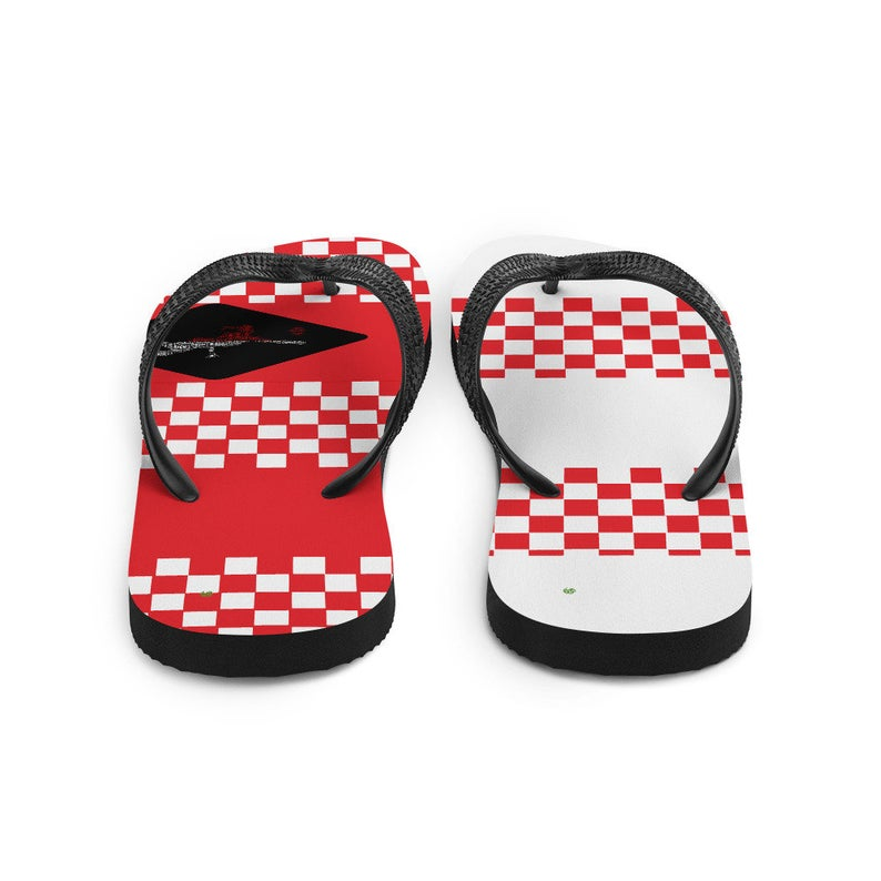 Volleybragswag Poland inspired volleyball flip flops available for volleyball players
