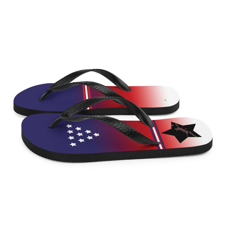 Volleybragswag USA inspired volleyball flip flops available for volleyball players