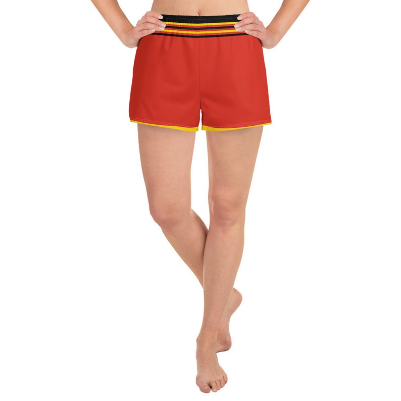 Inspired by the national flag of Germany these cute women's shorts come with pockets and are made of a versatile fabric that'll make you feel comfy at any sports event.