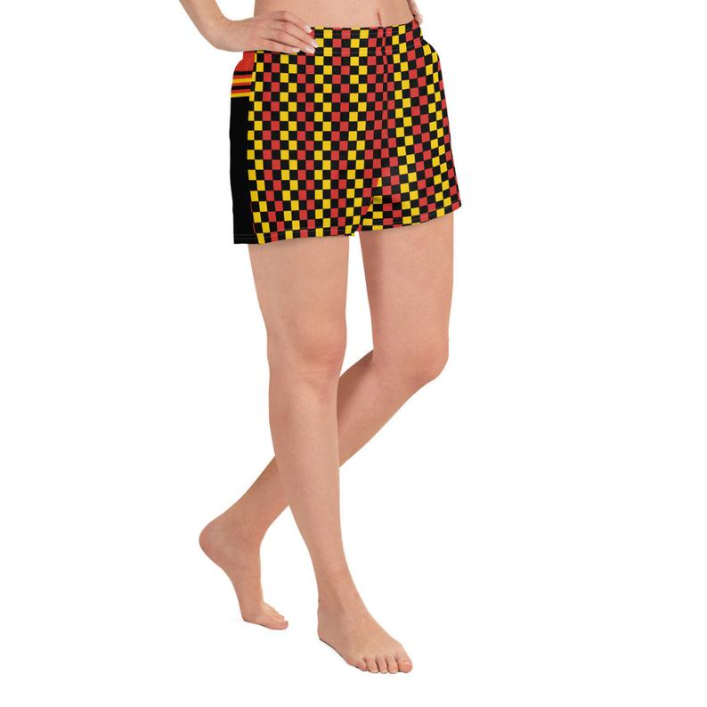 These athletic women's short shorts are so comfy and made from such a versatile fabric that you won't feel out of place at any sports event. And, of course, they have pockets.