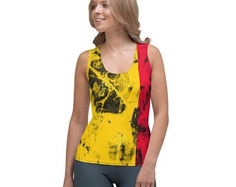 Tank tops - German flag inspired designs inspired by the Tokyp Olympics world flags of countries in the volleyball tournament.