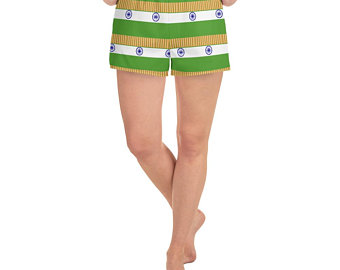 India Flag Inspired Sports Bra and Shorts Outfits