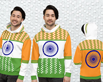 My colorful country flag inspired unisex oversized volleyball hoodies by Volleybragswag are now sold on ETSY and are inspired by flags from Japan, Poland, like this volleyball design from India.