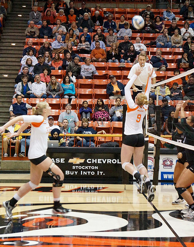 The setter faces Zone 4 when they set the ball outside  or when they set to the middle. Volleyball setters face Zone 4 when they back set the ball to Zone 2 which is behind them. (Inky Hack)
