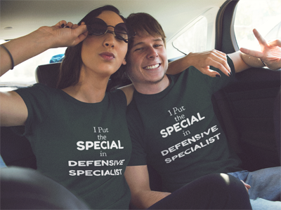 Volleyball T-Shirt Slogans: I put the special in defensive specialist!