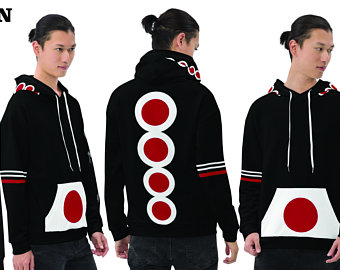 Hoodies - Create A Cute Beach Volleyball Outfit With Japan Flag Inspired Designs by Volleybragswag