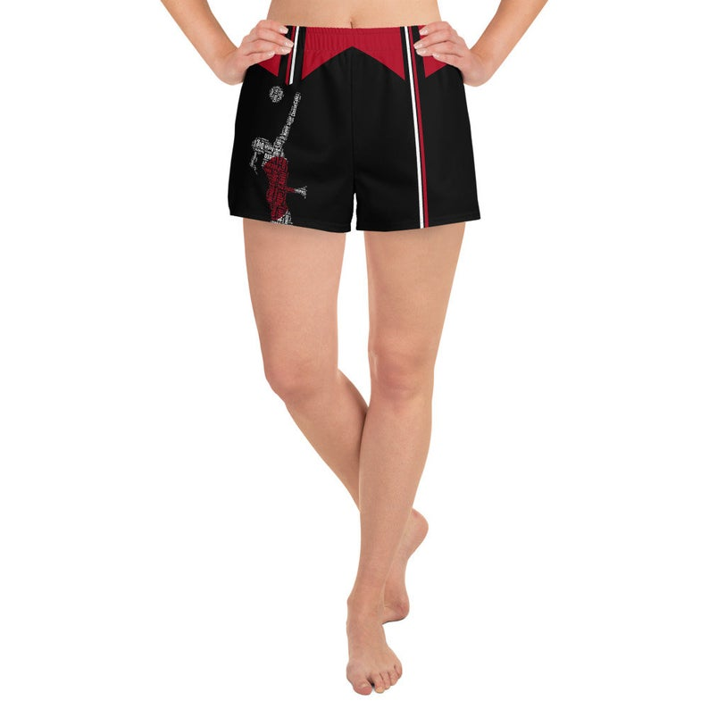 These trendy women's shorts come with pockets with a design inspired by the national flag of Japan, they're so versatile you won't feel out of place at any sports event.