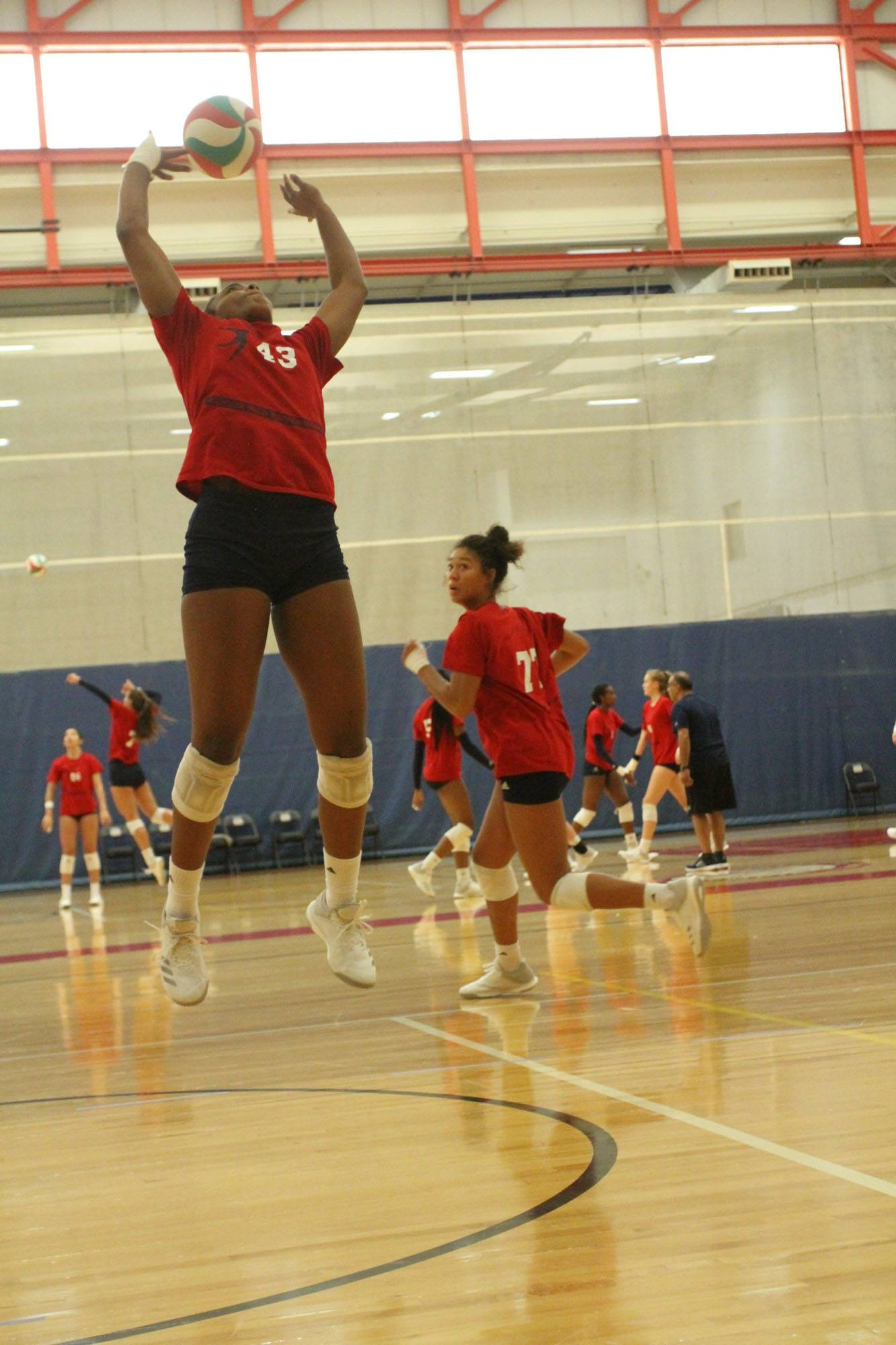 We believe that players need to do ALOT of great volleyball drills with setting repetitions in a short amount of time in order to improve their technique.