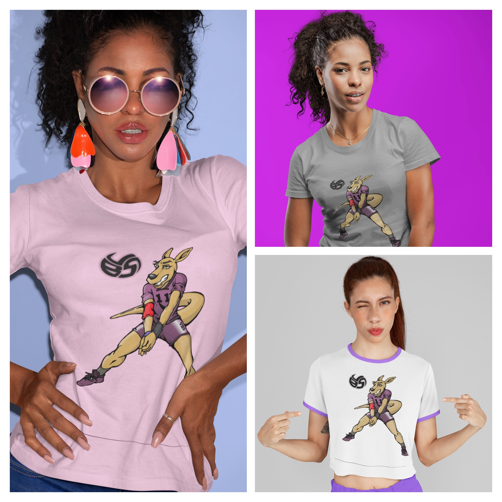 Volleybragswag Volleyball T Shirt Designs Feature Hitter Resee The Kangaroo
