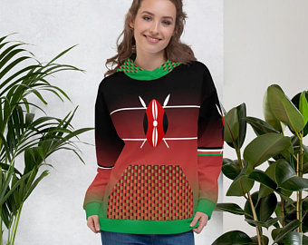 My colorful country flag inspired unisex oversized volleyball hoodies by Volleybragswag are now sold on ETSY and are inspired by flags from Japan, Poland, like this volleyball design from Kenya.