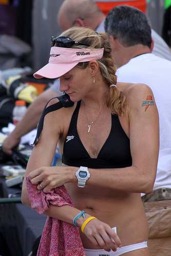 Kerri Walsh has become one of the biggest names in Olympic volleyball, being the most-decorated player in that Olympic sport of all time. (Steve Corey)