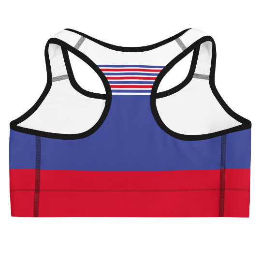South Korea Flag Inspired                                        Sports Bra and Shorts Outfits