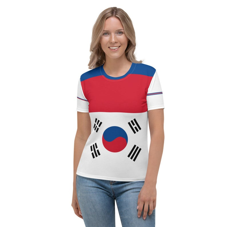 Create A Cute Beach Volleyball Outfit With Korea Flag Inspired Designs by Volleybragswag