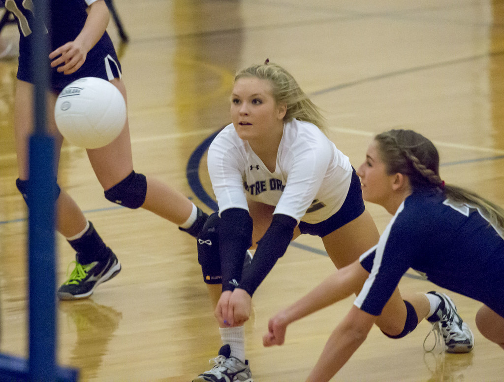 Libero volleyball players tend to have great ball control skills, be quicker at reading where a ball is going to land in their court, be faster in defense than their teammates. (Keith Allison photo)