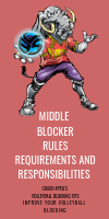 Middle Blocker Rules and Requirements and Responsibilities by April Chapple