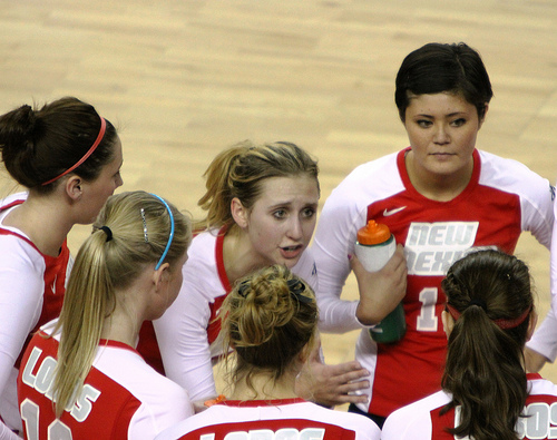 Communication in Volleyball: I didn't share any information with teammates which didn't help them understand what I was thinking  or what I intended to do. (Neon Tommy photo)