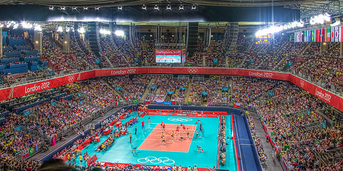 London Olympic volleyball stadium 2012