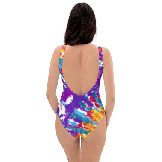 One Piece Tie Dye Swimsuit Designs Spring Collection 2021