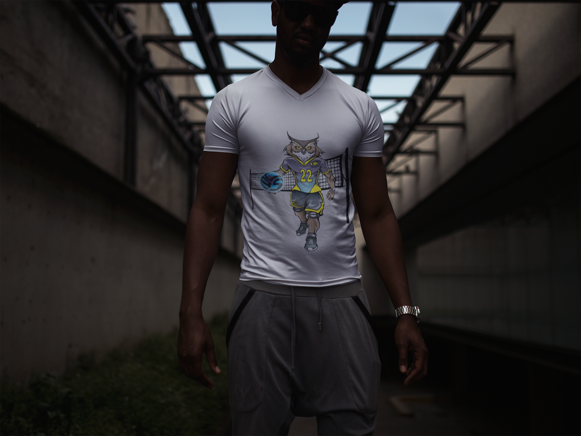 I know you're going to love the new Volleybragswag collection of beast inspired designs like the owl t shirts on 100% cotton volleyball shirts, hoodies and lots of other swag.