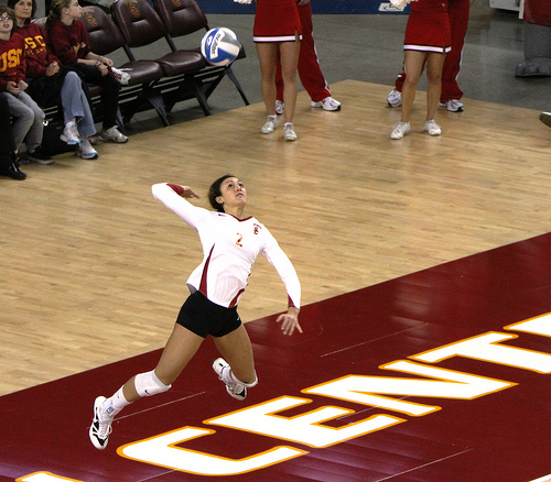 Attention short volleyball players...how tall does a girl have to be to learn to serve the Tall girl in the front row? (Neon Tommy)