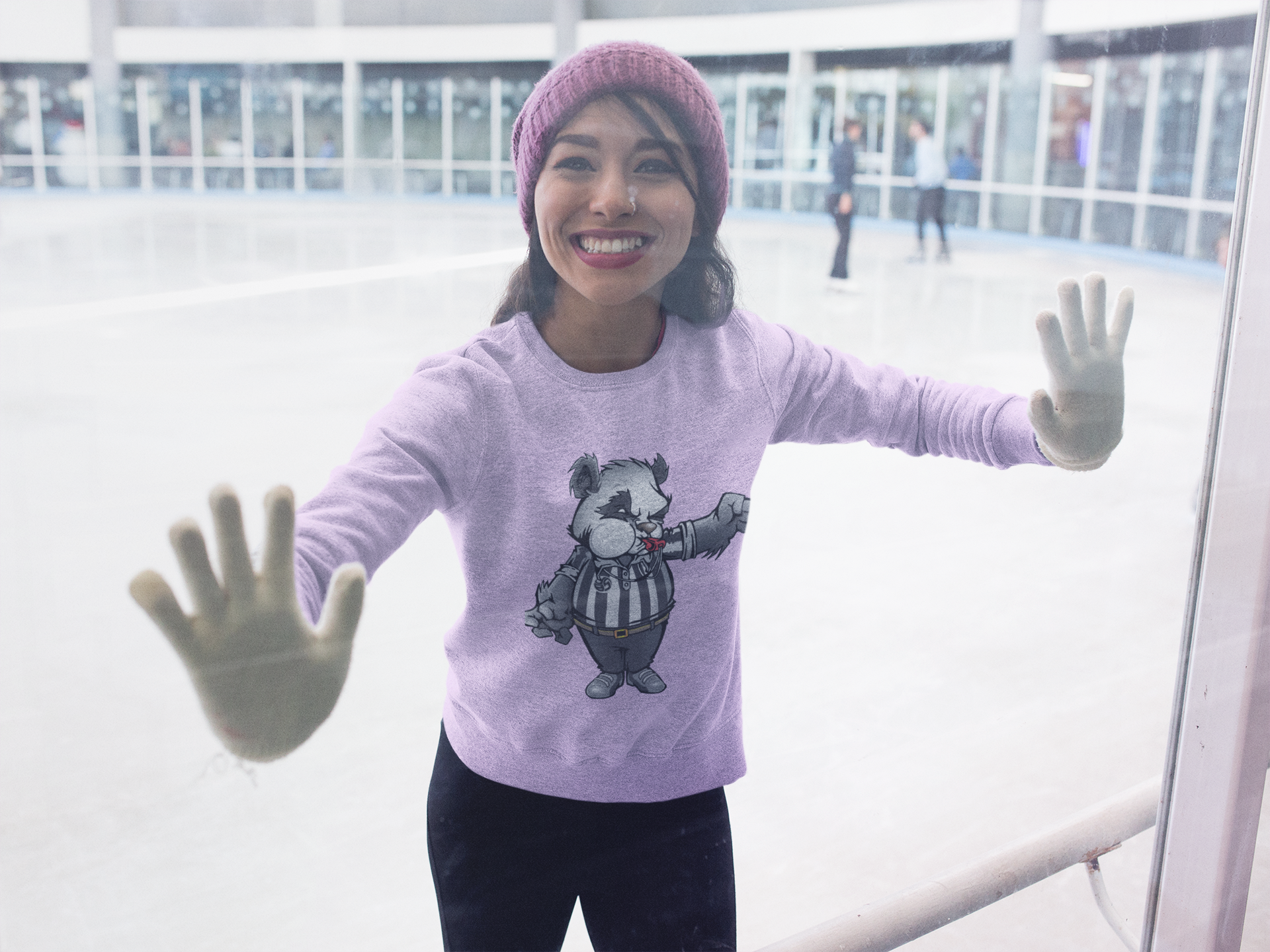 Volleyball Sweatshirts feature Panda