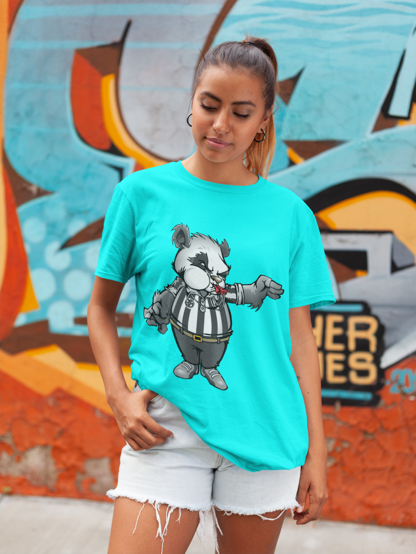 The Panda T Shirt by Volleybragswag Is A Volleyball Gift  That Honors Referees