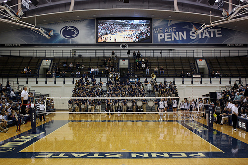 Seven-time NCAA champions Penn State volleyball court
