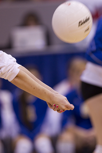 Passing dimes, or setting dimes means you are passing or setting balls right to the intended target! (Battle Creek Volleyball)