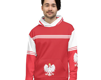 My colorful country flag inspired unisex oversized volleyball hoodies by Volleybragswag are now sold on ETSY and are inspired by flags from Japan, Poland, like this volleyball design from Poland.