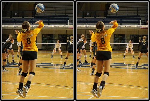In competitive high school, club, college and international volleyball the overhand serve is the most popular form used to start the rally when serving. (Michael E. Johnston)