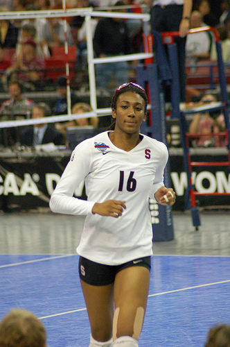USA Olympic middle blocker Foluke Akinradewo