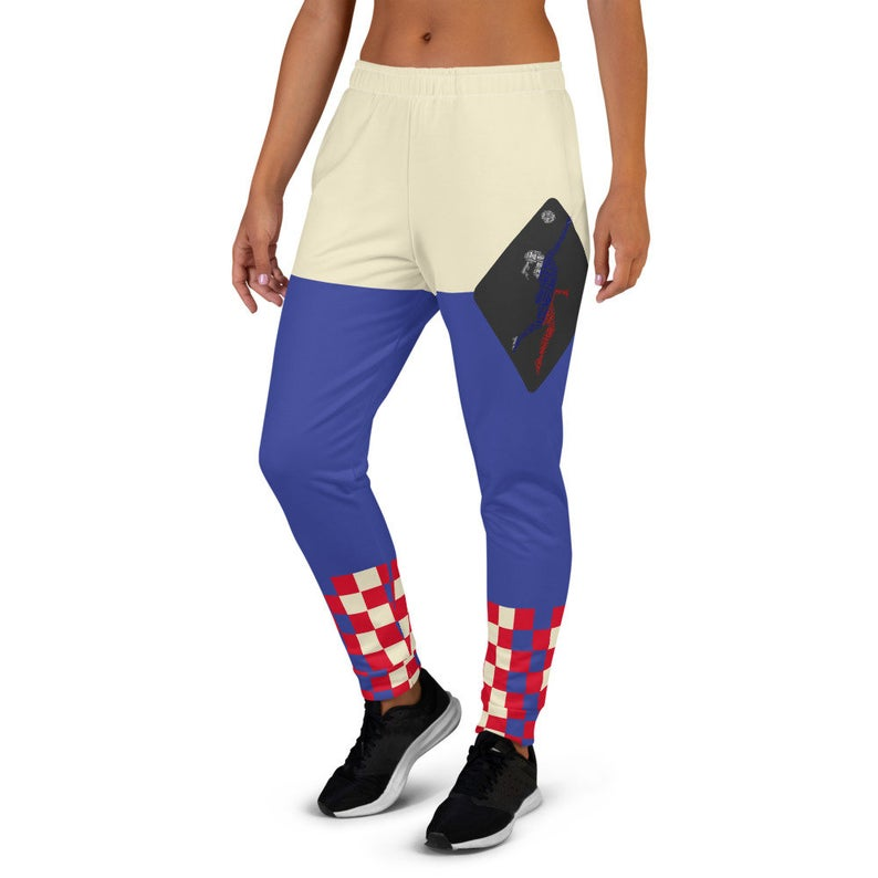 The Best Jogger Pants For Travel Are The Most Comfortable Sweatpants with Pockets with designs inspired by the Tokyo Olympics World flags..(Russia flag inspired joggers)..Click to shop on Etsy.