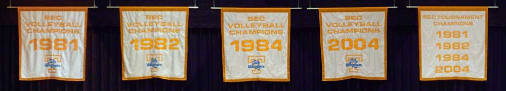 April Chapple's Lady Vol 1981 - 1984 UT team is the winningest team in Tennessee history winning three SEC championships in four years.
