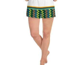 South Africa Flag Inspired                     Sports Bra and Shorts Outfits