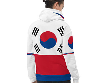 My colorful country flag inspired unisex oversized volleyball hoodies by Volleybragswag are now sold on ETSY and are inspired by flags from Japan, Poland, like this volleyball design from South Korea.
