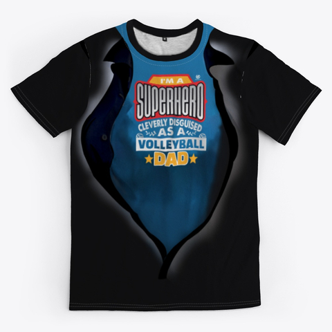 The Volleyball Dad Super Hero Volleyball Shirt Black