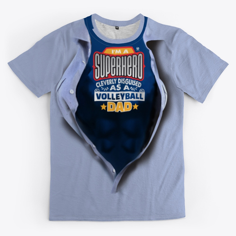 The Volleyball Dad Super Hero Volleyball Shirt Grey