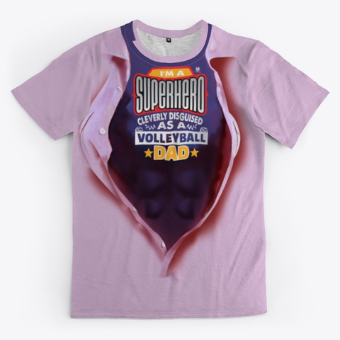 The Volleyball Dad Super Hero Volleyball Shirt Pink
