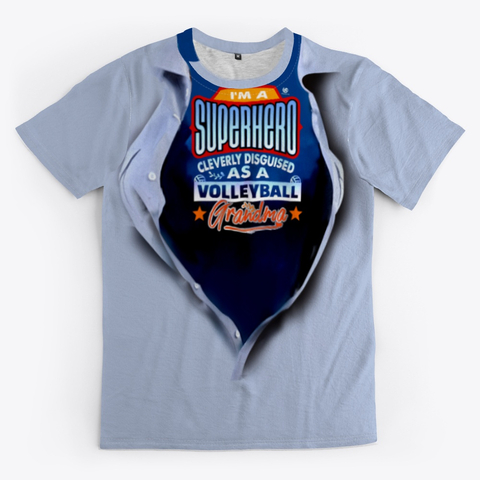The Volleyball Grandma Super Hero Volleyball Shirt Grey